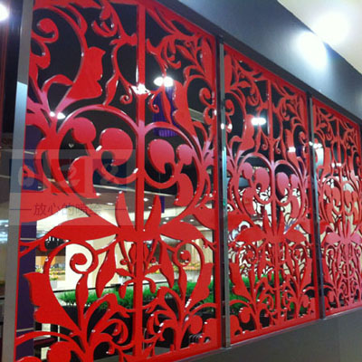 PVC隔断墙雕刻制作
